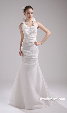 http://www.ikmdresses.com/Ruched-Mermaid-Trumpet-Summer-Halter-Puddle-Train-Wedding-Dress-p19241
