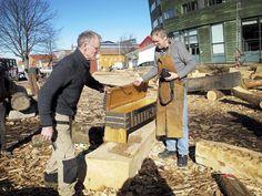 replica oseberg 149 chest  made by Oddleiv Steinkjer for the Nytt Oseberg Skip