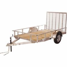 Trailer | Brand : Carry-On Trailer | Payload Capacity : 2,040 lb. | Gross Vehicle Weight Rating : 2,990 lb. | Bed Width : 5-1/2 ft. | Bed Length : 10 ft. | Floor Type : Wood | Number of Axles : 1 | Tire Weight Rating (ea.) : 1,820 lb.