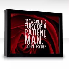 'Beware the fury of a patient man'  Love this quote so much.