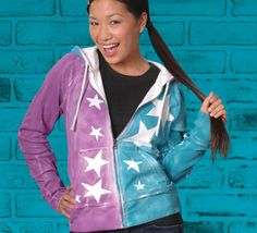 superstar hoodie, tie die - diy
