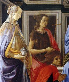 Sandro Botticelli - Renaissance - Le Retable de Saint Ambroise, detail - 1469
