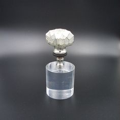 Custom Lamp Finial with a Silver Leafed Faceted by TheFineFinial