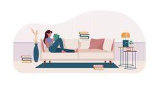 Custom-made illustration for Alice Stephenson about reading. Holland, Evans, Toddler Bed, Alice, Illustrations, Reading, Design, Home Decor, The Nederlands