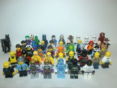 LEGO MINIFIG MINIFIGURE LOT OF 40 PLUS EXTRAS STAR WARS MARVEL DC