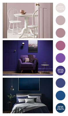 A Guide To Pantone Inspired Rooms Interior Design Courses, Decor Interior Design, Interior Decorating, Interior Barn Doors, Interior Paint, Interior And Exterior, 2018 Interior Trends, Jeep Wrangler Interior, Ultra Violet