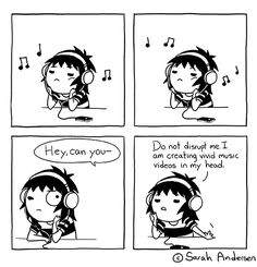 Sarah's Scribbles :: Music Videos   Tapastic Comics - image 1. Only around annoying people.