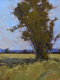 "Daily Paintworks - ""Tree Study"" - Original Fine Art for Sale - © Julie Davis"