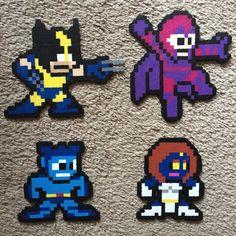 X-Men (Wolverine, Magneto, Beast, Mystique) hama perler beads by hardassdoll