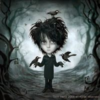 Inspired by Robert Smith again! All visuals in my deviantART gallery may not be reproduced, copied, edited, published, transmitted or uploaded in any wa. Lord of the crows Dark Gothic Art, Gothic Fantasy Art, Dark Fantasy, Dark Art, Fröhliches Halloween, Tim Burton Art, Mark Ryden, Raven Art, Goth Art