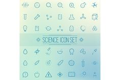 Set of science icons by grop on Creative Market