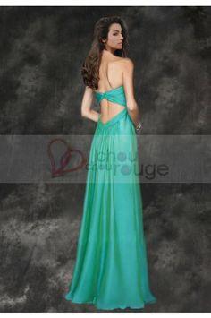 Robe de soiree longue turquoise