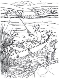 Fishing In A Rowboat