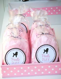 Pink POODLE PUFF LABEL : By Bloom Designs