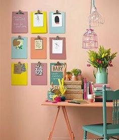 Uma ideia criativa para expor lembretes e tarefas no home office! 👍🏼