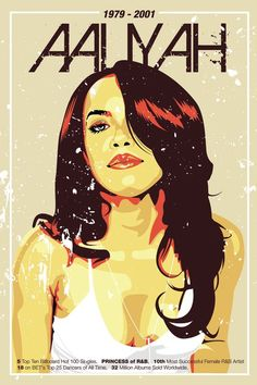 Aaliyah Tribute Art, by Rommell Torres