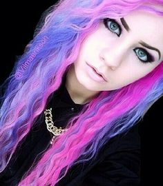 Pink, purple, and blue hair. If I could look like anyone, it would be her.