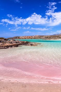Elafonissi beach with pink sand on Crete, Greece Greece Sea, Greece Islands, Mykonos Greece, Athens Greece, Beautiful Places To Visit, Cool Places To Visit, Beautiful Beaches, Places To Go, Greece Vacation