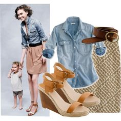 Ways to wear a chambray shirt (5)
