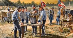 General Longstreet and his staff before the Battle of the Wilderness, Virginia, May Print by Henry E. American Revolutionary War, American Civil War, American History, Civil War Flags, Civil War Art, Military Art, Military History, Battle Of The Wilderness, Confederate States Of America