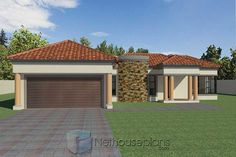 3 Bedroom House Plans South Africa | House Designs | NethouseplansNethouseplans House Plans For Sale, House Plans With Photos, Garage House Plans, Family House Plans, Small House Plans, Three Bedroom House Plan, Bedroom House Plans, Double Storey House Plans, Tuscan House Plans