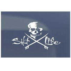 Skull & Boards Decal. I have this on my cars back window, it's tinted and looks awesome.........