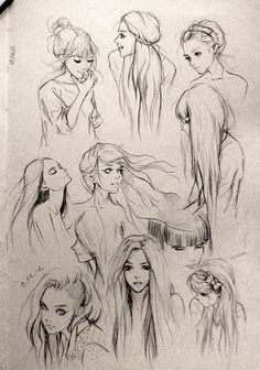 "Fantasy ""Girl"" Hair. I love this so much! Wanna draw people with this hair!"