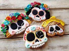 Cookies Patch:  Sugar skulls.  Dia de Los Muertos