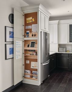 Beautiful Kitchen Cabinets Around Refrigerator