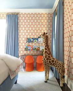 Whimsical bedroom perfect for a little boy OR girl! #design #decor #interiors