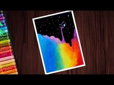 Beautiful abstract drawing with oil pastels for beginners - step by step Oil Pastel Drawings Easy, Oil Pastel Paintings, Oil Pastel Art, Abstract Drawings, Colorful Drawings, Easy Drawings, Oil Pastel Colours, Oil Pastels, Oil Pastel Crayons