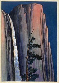 Evening Glow at Yosemite Falls by Chiura Obata, 1930