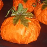 How to Make Pumpkin Treat Bags From Tissue Paper   eHow