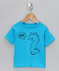 Take a look at this Turquoise 'Rar' Tee - Toddler & Kids by Rainbow Swirlz on #zulily today!