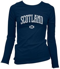 Women's Scotland LS T-shirt  Scottish Long Sleeve by smashtransit