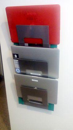 Laptop rack from the IKEA SPONTAN magazine rack