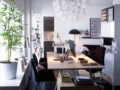 funky office design. Perky And Impressive Workspace Designs: Minimalist White Grey Home Office Space Design Funky