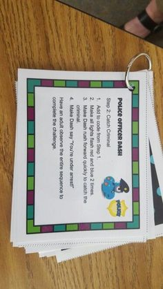 Task cards for Dash. Great wau to give students a challenge and focus while learning about robotics in your makerspace Dash And Dot Robots, Dash Robot, Teaching Technology, Digital Technology, Educational Technology, Computer Coding, Computer Programming, Basic Coding, Computational Thinking