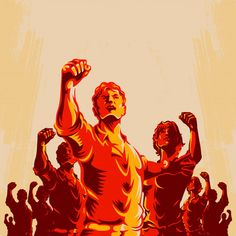 Crowd Protest Fist Revolution Poster by Rahmad Kurniawan Protest Kunst, Protest Art, Che Guevara Tattoo, Revolution Poster, Banner Background Hd, Political Posters, Soviet Art, Egyptian Art, Art Sketches
