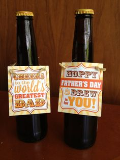 Don't forget about Dad! DIY & cheap Father's Day gift idea!  Fathers Day Beer Hang Tag  Printable PDF  Set of 2  by starflight, $4.25