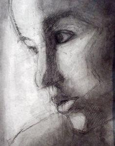 Técnica Mixta | #rostro s/papel acuarela