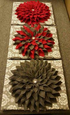 Diy Fall Wreath, Wreath Crafts, Flower Crafts, Paper Crafts, Felt Flowers, Fabric Flowers, Paper Flowers, Diy Crafts For Home Decor, Diy Craft Projects