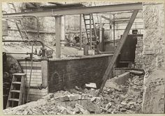 Bata Derbyshire & Blackburn Adlington Textile Mill Chorley Lancashire, old boiler being dismantled Nov 1963, photo courtesy Charles Novotny Family Archive, we have more photos of the looms and employees of this mill, contact BRRC or see website