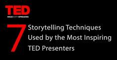 Presentations don't have to be dull and long. Sometimes, a good short story can already deliver your message to the audience. Look at these 7 storytelling techniques used by TED Presenters. #TED #Storytelling