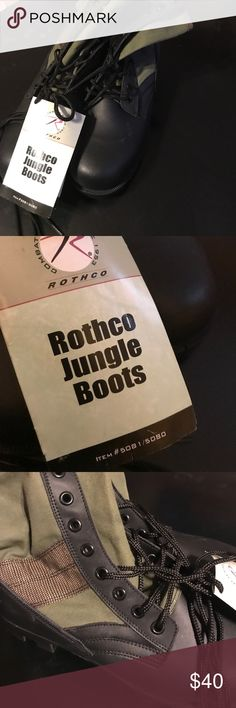 Men's. Rothco Jungle Boots NWT 10 R Great buy Brand new pair of Rothco boots size 10 R. Rothco Shoes Boots