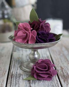 filzblumen zum selbermachen diy deko ideen