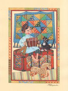Просмотреть иллюстрацию Дуэт из сообщества русскоязычных художников автора Марина Федорова  в стилях: Декоративный, Детский, нарисованная техниками: Гуашь.