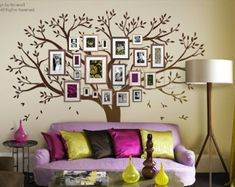 Tree Wall Decals Wall Stickers Big Family Tree decal by NouWall