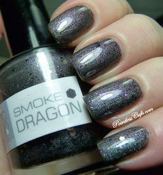 Nail of the Day: NerdLacquer Smoke Dragon Dragon Nails, More Than Words, Pretty Hairstyles, Nail Designs, Nail Polish, Lips, Glitter, Smoke, Manicures