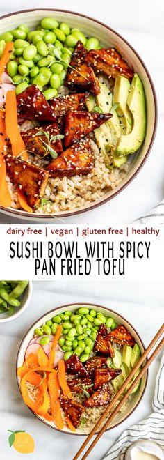 Vegan Dinner Recipes, Healthy Chicken Recipes, Vegan Dinners, Veggie Recipes, Vegetarian Recipes, Cooking Recipes, Healthy Tofu Recipes, Healthy Easy Food, Tofu Meals